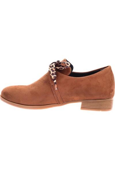 Dgn 207 Kadın Sivri Burun Bağcıklı Oxford Ayakkabı