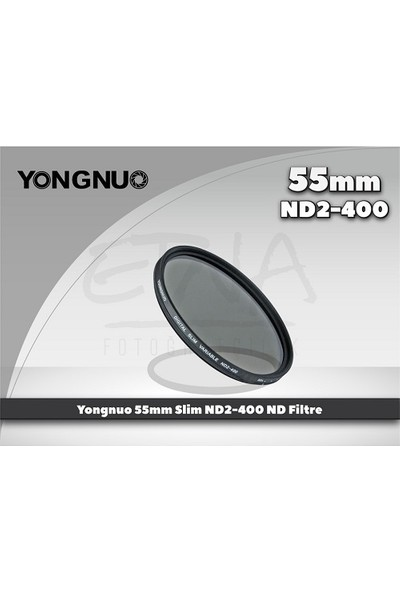 Yongnuo 55 mm Slim ND2-400 Variable Nd Filtre