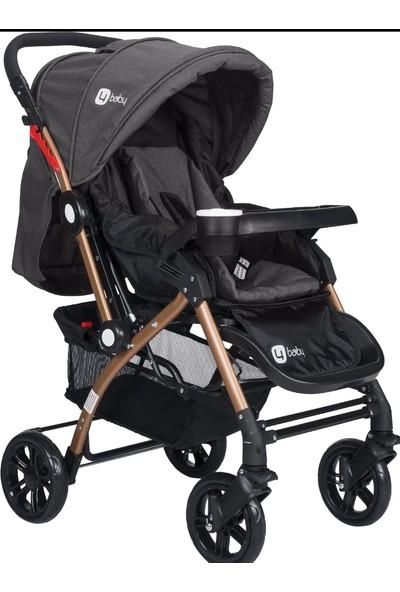Four Baby 2019 Lüx Gold Mama Tablalı Çift Yönlü Bebek Arabası - Antrasit