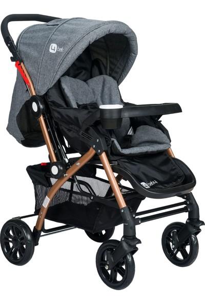 Four Baby 2019 Lüx Gold Mama Tablalı Çift Yönlü Bebek Arabası - Gri