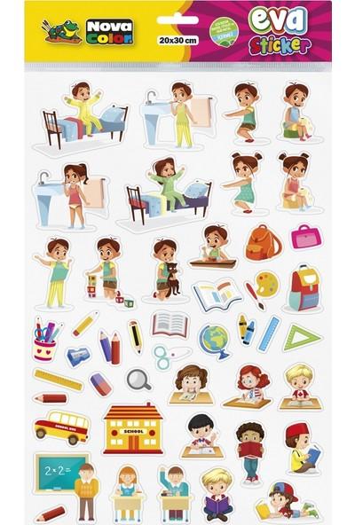 Nova Color 20 x 30cm Eğitim Eva Sticker