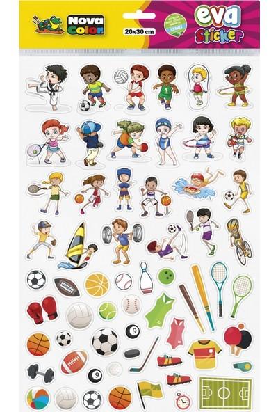Nova Color 20 x 30cm Spor Eva Sticker