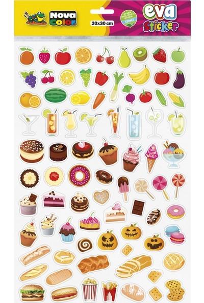Nova Color 20 x 30cm Yiyecekler Eva Sticker
