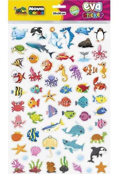 Nova Color 20 x 30cm Deniz Canlıları Eva Sticker