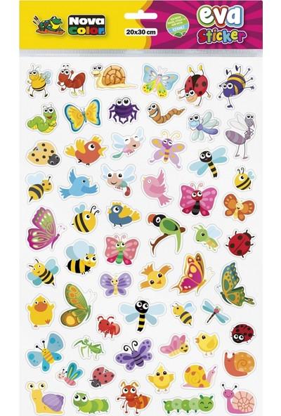 Nova Color 20 x 30cm Uçan Hayvanlar Eva Sticker