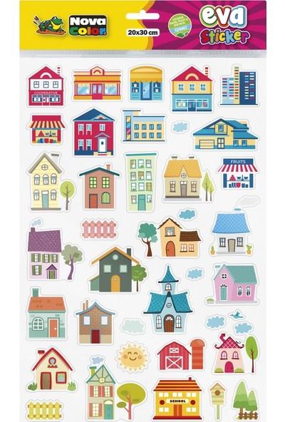 Nova Color 20 x 30cm Evler Eva Sticker