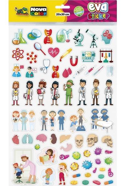 Nova Color 20 x 30cm Bilim - Sağlık Eva Sticker