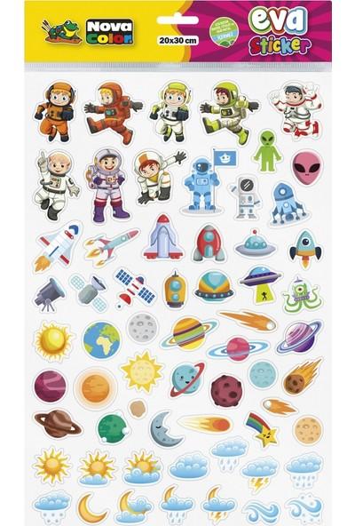 Nova Color 20 x 30cm Uzay- Gökyüzü Eva Sticker