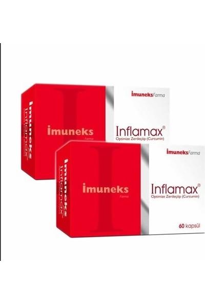 Imunex Inflamax Optimize Zerdeçöp Curcumin 60 Kapsül 2 Li