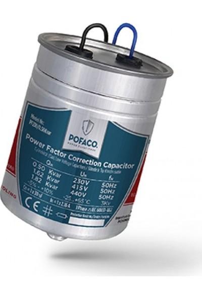 Pofaco 0,50 Kvar 230V Monofaze Silindir Tip Kondansatör