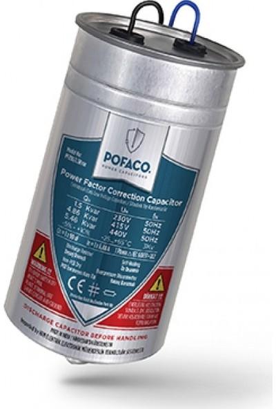 Pofaco 1,50 Kvar 230V Monofaze Silindir Tip Kondansatör