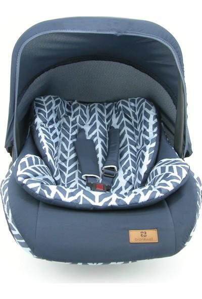 Bronkwell Ana Kucağı Bebek Taşıma Koltuğu Pedli Mavi