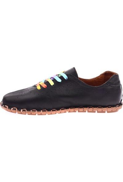 Messimod H20Y2902 Kadın Bağcıkcı Soft Çarık Ayakkabı