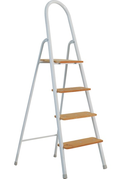 Fabidu Ahşap Basamaklı Ev Tipi Katlanır Portatif 3+1 Merdiven
