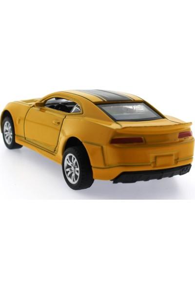 Mega Çek Bırak Sarı Metal Spor Araba K138A