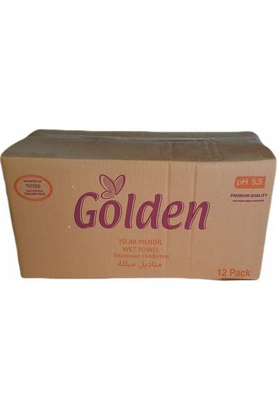 Golden Tiryandafil Gül Kokulu 12X90 lı 1080 Yaprak KAPAKLI Islak Havlu