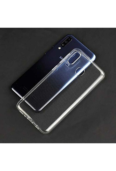 Kılıfist Samsung Galaxy M40 Kılıf Zore Süper Silikon Kamera Korumalı Şeffaf