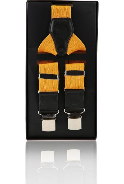Kravatkolik Sarı Renk Düz Pantolon Askısı PAN28