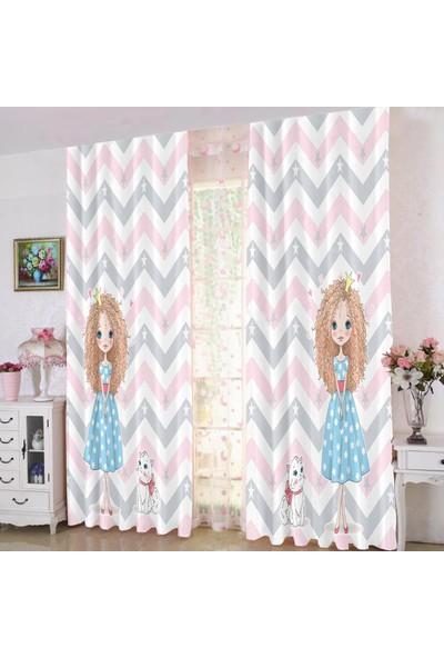 Efşan Prenses Kız 140 x 200 Çocuk Odası Fon Perde