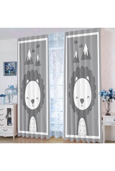 Efşan Sevimli Aslan 140 x 200 Çocuk Odası Fon Perde