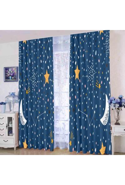 Efşan Yıldızlı 140 x 200 Çocuk Odası Fon Perde