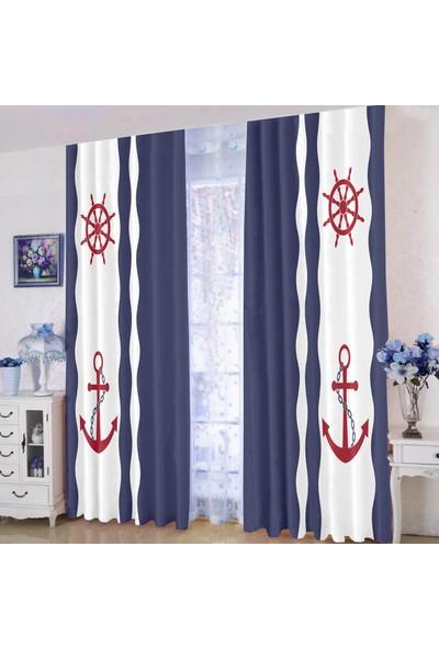 Efşan Denizci 140 x 200 Çocuk Odası Fon Perde