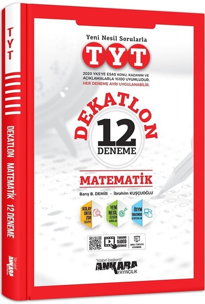 Ankara Yayıncılık TYT Dekatlon Matematik 12 Deneme Sınavı