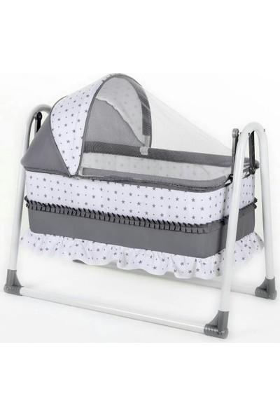 Tommybaby Yuvam Lüx Sepet Beşik Portatif Bebek Beşiği Sallanır Beşik