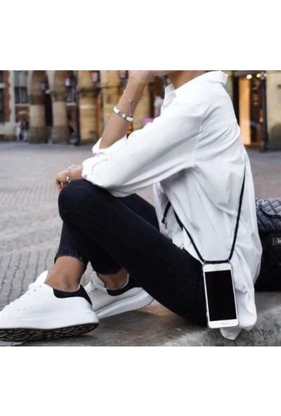 Atalay Samsung Galaxy S9 Plus Şeffaf Boyun Askılı Pembe Kılıf