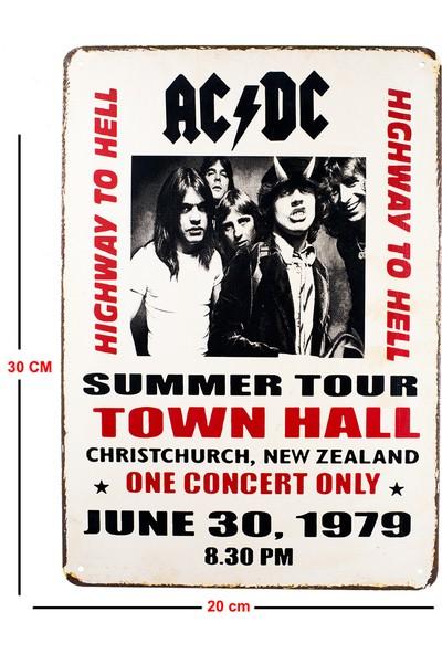 Carma Concept Ac & Dc Highway To Hell Metal Duvar Konser Posterleri Retro Müzik Panoları