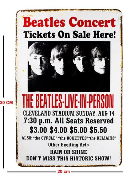 Carma Concept Beatles Live In Person Metal Duvar Konser Posterleri Retro Müzik Panoları