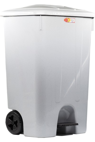 Şenyayla Pedallı Çöp Kovası Gri 85 lt