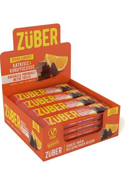 Züber Kakaolu ve Portakallı Meyve Tatlısı 40 gr x 12'li