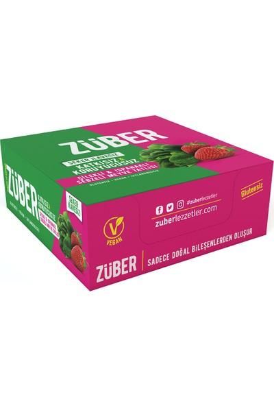Züber Çilekli ve Ispanaklı Sebzeli Meyve Tatlısı 35 gr x 12'li