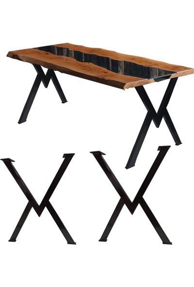 Bin1Fırsat Metal Masa Ayakları Çalışma Yemek Bilgisayar Masası Ayağı Retro