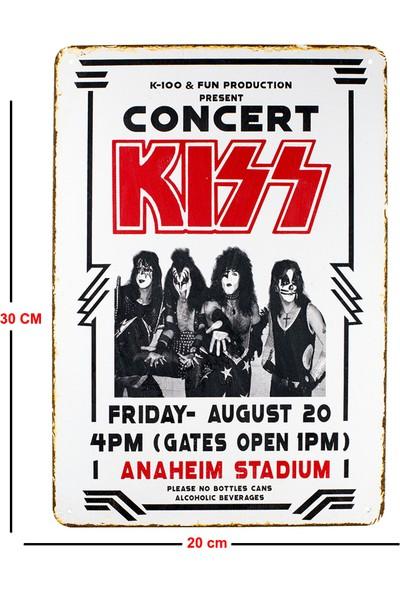 Carma Concept Kıss Anaheim Stadium Metal Duvar Konser Posterleri Retro Müzik Panoları