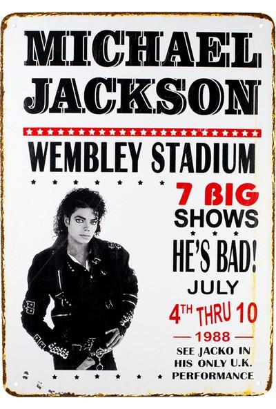 Carma Concept Michael Jackson Wembley Metal Duvar Konser Posterleri Retro Müzik Panoları
