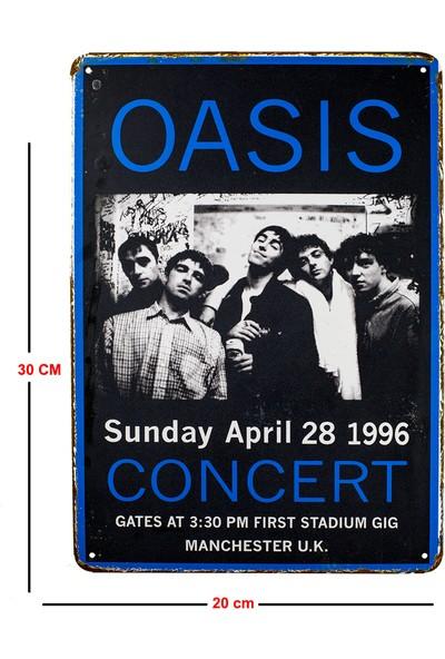 Carma Concept Oasis Manchester U.K Metal Duvar Konser Posterleri Retro Müzik Panoları