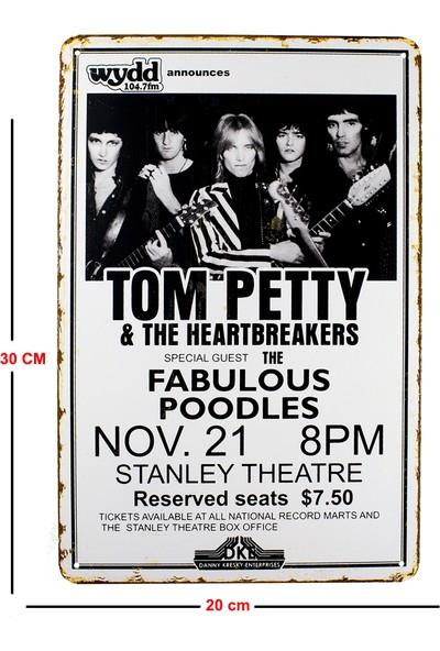 Carma Concept Tom Petty The Heartbreakers Metal Duvar Konser Posterleri Retro Müzik Panoları