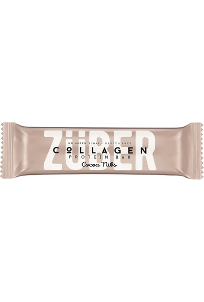 Züber Kolajen Proteinli Bar 35 gr Kakao Çekirdeği 12 Adet