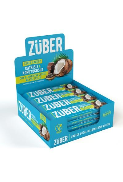 Züber Chia Ve Hindistan Cevizli Doğal Meyve Tatlısı 40 Gr X 12 Adet