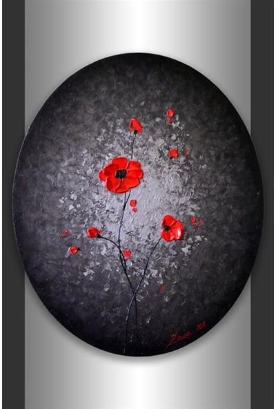 Hobi24 Oval Tuval 50 x 70 cm 35 mm