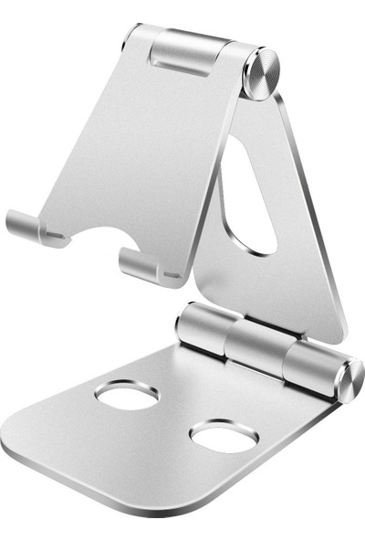 iDock T28-1 Alüminyum Ayarlanabilir Tablet ve Telefon Stand - Gümüş