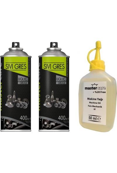 Mastercare 2 Tüp Sıvı Gres Spreyi Makine Yağ Seti 428314