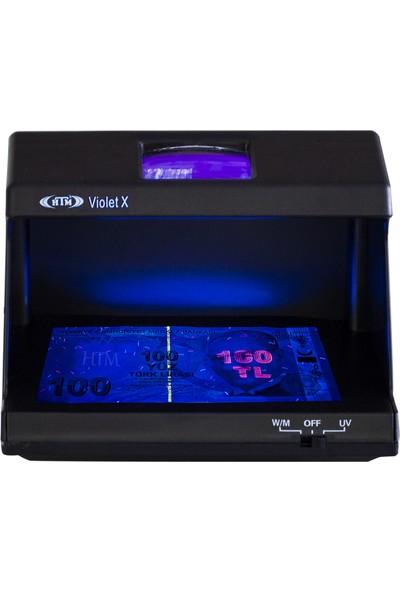 Htm Violet x Mor Işık Para Kontrol Makinesi