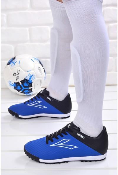 Lig Meriç Hm Halı Saha Erkek Spor Futbol Ayakkabısı Mavi