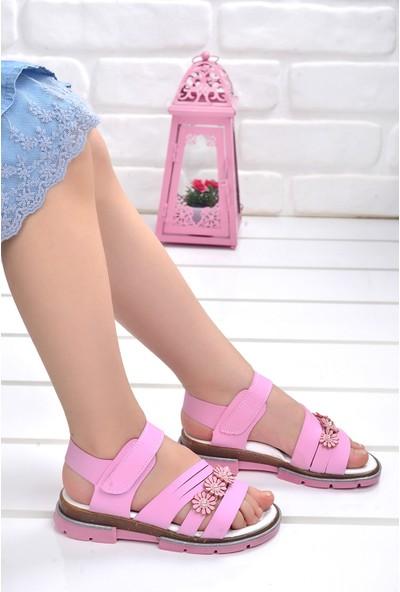 Kiko Şb 2459 68 Kız Çocuk Sandalet Terlik Pembe