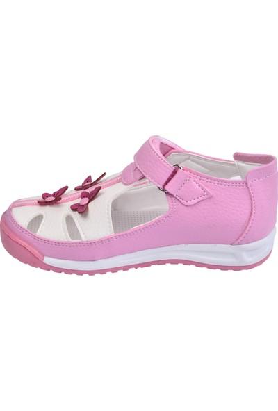 Kiko Şb 2385 90 Kız Çocuk Ayakkabı Sandalet Pembe Beyaz