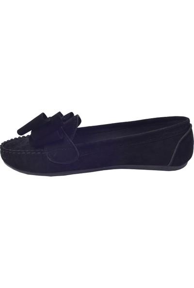 Annamaria Fiyonk Günlük Kadın Babet Ayakkabı Siyah