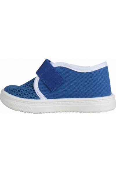 Sanbe 401 R 004 Anatomik Erkek Çocuk Keten Sandalet Ayakkabı Saks